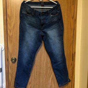 🔴Earl Jeans Skinny Ankle Sz 18W EUC
